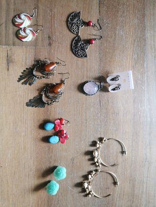 Earrings bundle all for RM25