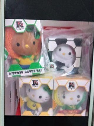 Mcdonalds World Cups Hello Kitty Plushies- Set of 7 for $40 only included 2 special edition shown at the circle pic. no. 2 *** REDUCED to : $38 Full set of 7 (update on : 15.4.19).