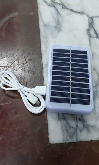 5V太陽能充電板戶外旅行充電寶大容量發電板風扇USB快充電器便攜