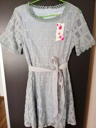 🚚 Dress ( Blue-Grey)