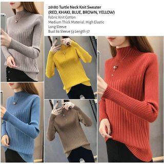 WST 26180 Turtle Neck Knit Sweater
