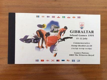 Gibraltar Mint Stamps Booklet - Island Games 1995