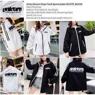WST 26195 Unicorn Stripe Track Sports Jacket