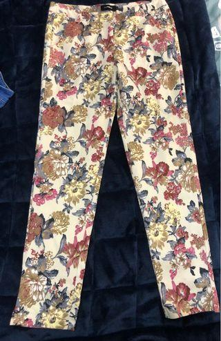 Floral vintage pants