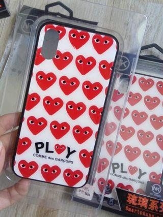 Comme Des garcons Glass phone case cover iPhone x/xs
