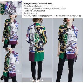 WST 26223 Color Mix Chain Print Shirt