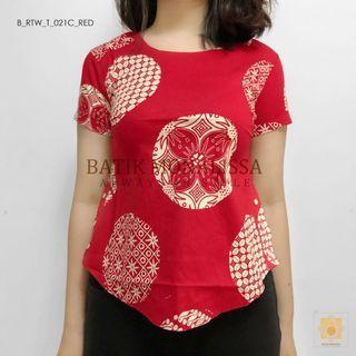 Batik Top in Red