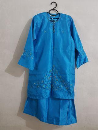 Blue Baju Kurung