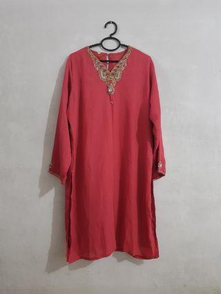 Pink kurung (top only)