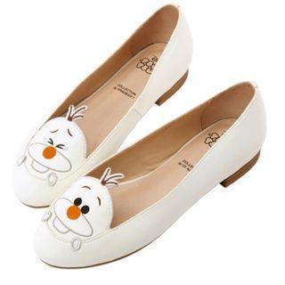 Grace gift ❤️Disney tsum tsum 雪寶電繡娃娃鞋