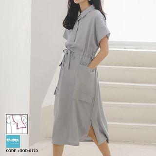 Midi Maternity Nursing Dress DOD-0170