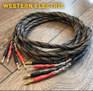 2.5m Western Electric NOS Speaker Cable - Pair