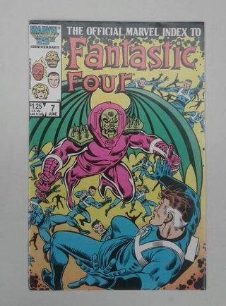 The Official Marvel Index To Fantastic Four ( Year 80's ) #7