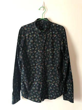 Diesel shirt - black colour with flower pattern