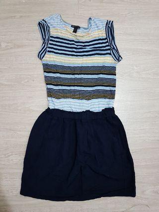 MANGO 線衫連身裙-M號
