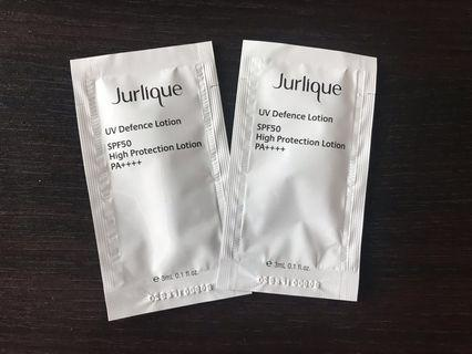 100% new Jurlique 草本輕柔防曬乳霜 3ml x 2 SPF50 PA ++++