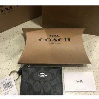 BNWT - Coach Mini Skinny ID Case (Smoke Black)