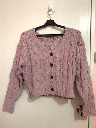 🚚 Brand new Japanese brand VIS knitted cardi in pink