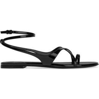 SAINT LAURENT Gia patent-leather sandals (NP)