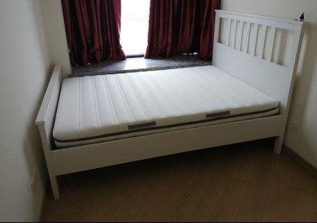 Doubke bed and mattress Ikea
