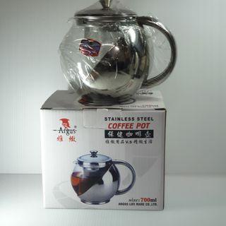 🚚 【現貨 12H出貨】 全新 咖啡 花茶壺 不銹鋼材質  700ml