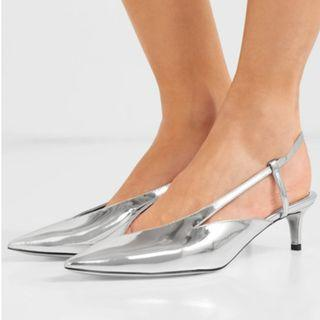 Givenchy Mirrored-leather slingback pumps (NP)