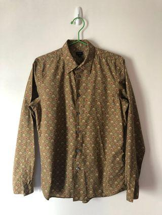 Paul Smith shirt - gold colour with pattern