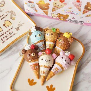 🚚 💕 Rilakkuma ice cream pen keychain