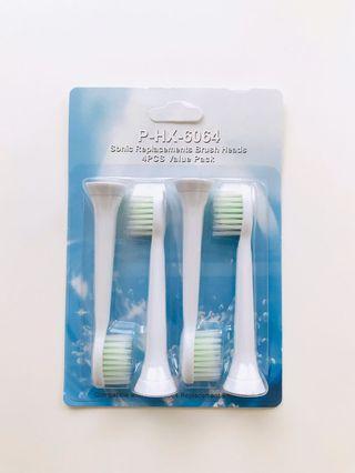 🚚 飛利浦PHILIPS副廠電動牙刷頭HX6064細尖超軟標準型
