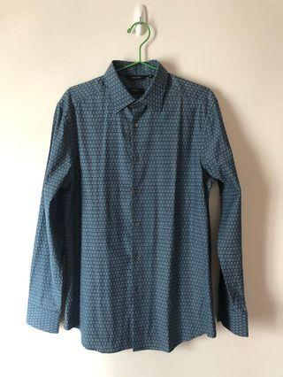 Paul Smith shirt - blue with pattern