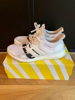 US 12: Undefeated X Adidas Ultraboost White