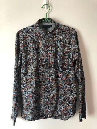Paul Smith shirt - black with color pattern