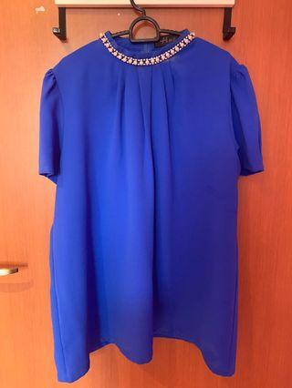 🚚 Blue Plus Size Top (UK18-20)