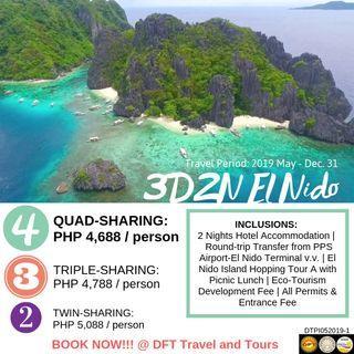 3D2N El Nido, Palawan Tour Package