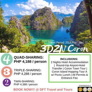 3D2N Coron, Palawan Tour Package