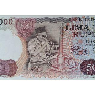 Indonesia Currency Banknote 5000 Rupiah of Year 1980