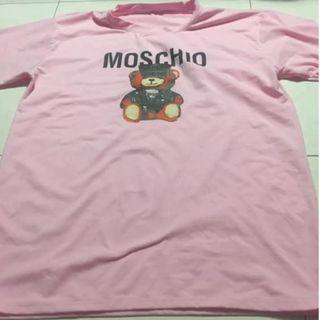 Moschino Bear T shirt pink L