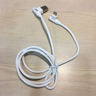 安卓microUSB雙彎頭快充傳輸線