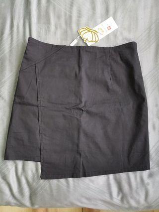 Brand new black asymmetrical skirt