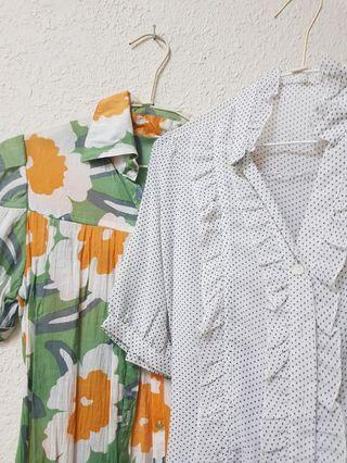 長版絲質上衣兩件一起買
