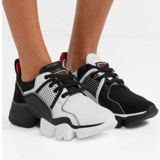 Givenchy Jaw mesh and suede-trimmed leather, neoprene and rubber sneakers (NP)