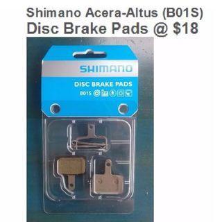 Shimano XTR/XT/SLX (B01S)/(G02A) Disc Resin Brake Pads @ $18