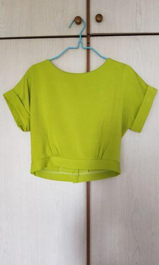 New Lime Green Cropped Top