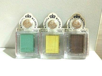 🔴FLASHSALE!!🔴 (U.P:$10) BRAND NEW BOUGHT DIRECTLY FROM JAPAN MAJOLICA MAJORCA EYESHADOW! 100% AUTHENTIC AVAILABLE IN BROWN, YELLOW AND GREEN! 1 EACH! HURRY WHILE STOCK LAST! GRAB BEFORE ITS GONE!!