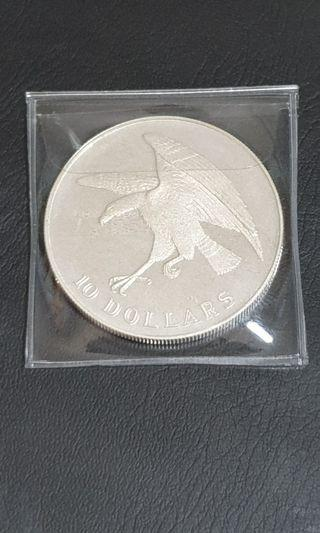 1974 SINGAPORE $10 EAGLE SILVER PROOF COIN