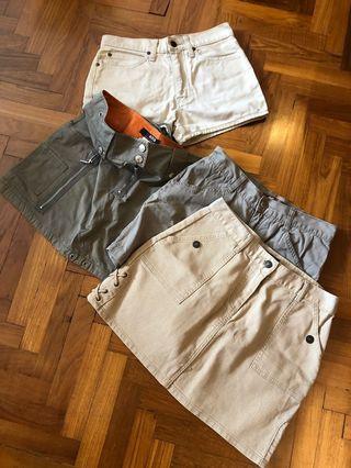 🚚 2 Morgan + lot mini skirt / shorts