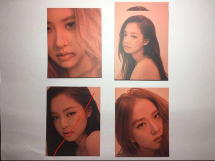 WTS Blackpink Puzzle Photocards
