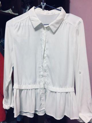 🚚 💡Lowrys Farm 白色設計款襯衫
