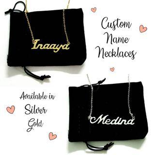 Personalized custom name necklaces