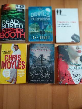 Assorted Novels 10$ a piece